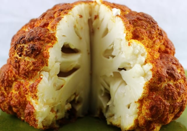 Spicy Whole Roasted Cauliflower | The Lifestyle Cafe