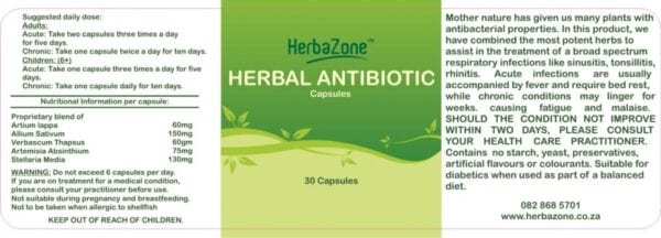 HerbaZone Antibiotic Capsules