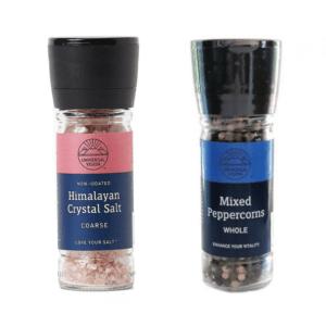 Himalayan Coarse Crystal Salt & Mixed Peppercorn Grinder