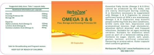 HerbaZone Omega 3 and 6