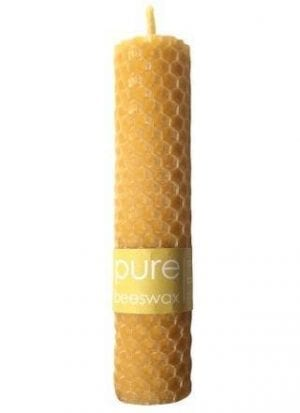 With Love Pure Beeswax 11cm Rolled Pillar Candle