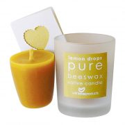 With Love Pure Beeswax Lemon Drops Votive Candle