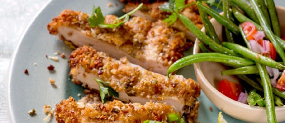 Chicken Schnitzel with Nutty Coating