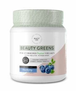 Beauty Gen Greens Blueberry 5-in-1 Supplement- Tub
