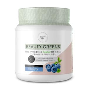 Beauty Gen Greens Blueberry 5-in-1 Supplement- Tub